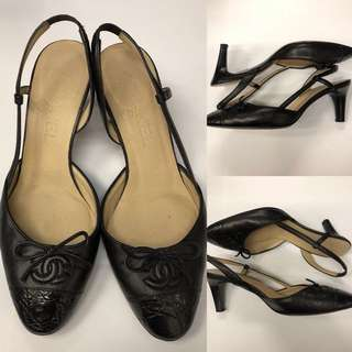 Chanel black high heel size 35