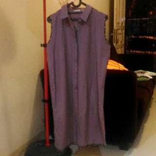 Purple dress with batik detail