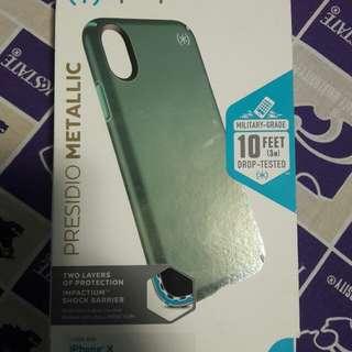 Speck Presidio Mettalic Peppermint  Iphone X Case