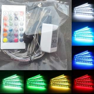 Lampu Led Dashboard Interior Mobil plus remote