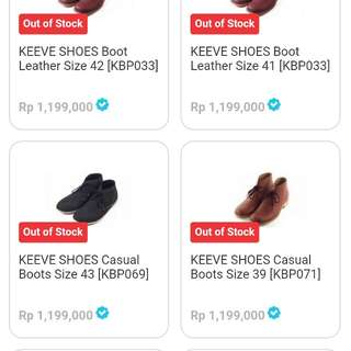 Keeve boots casual size 40-41