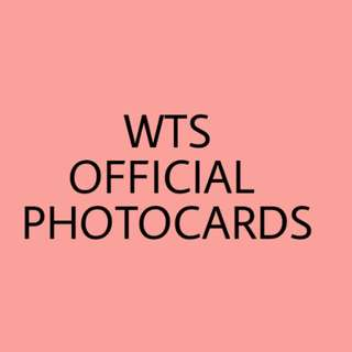 WTS OFFICIAL PHOTOCARDS