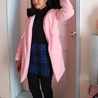 Korean coat soft pink