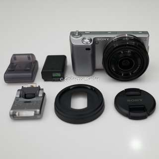 Sony NEX-5 Camera with Lens and Flash