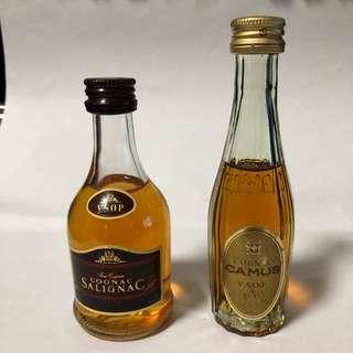 CAMUS vsop & SALIGNAC vsop 酒辦2支