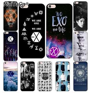 😍 EXO Korean kpop phone Cases for iphone 7 7Plus Soft silicon Case For iphone X 6 6s 6Plus 6splus 8 8plus back cover