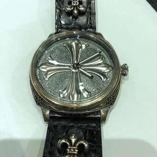 純銀手上鍊手錶