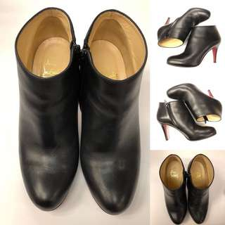 Christian Louboutin ankle high heel boots size 36.5