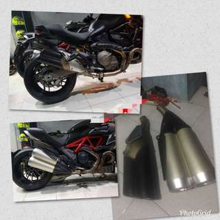 Ducati Diavel, Monster 821 exhaust with linkpipe