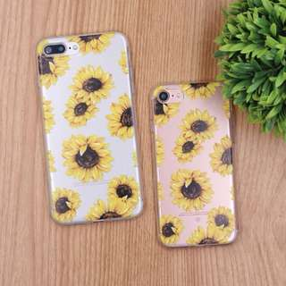 Iphone Samsung Huawei Sunflower Clear Soft Case