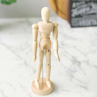 Wooden figurine decor
