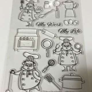 Chef at work Clear Stamp