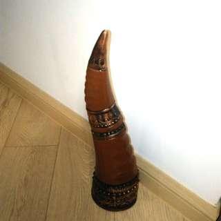 格魯吉亞牛角陶瓷吉酒樽/酒瓶