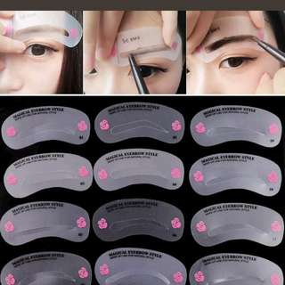 FREE NM*EYEBROW STENCILS TEMPLATE TRACING