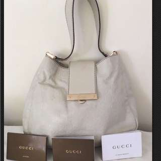 Genuine Gucci Leather Guccissima Hobo Bag