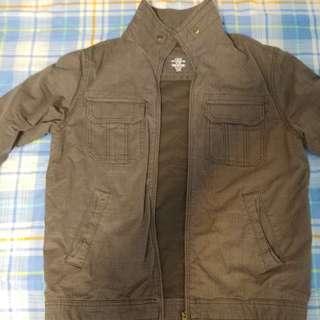 接近全新 H&M grey colour 厚身多袋 jacket