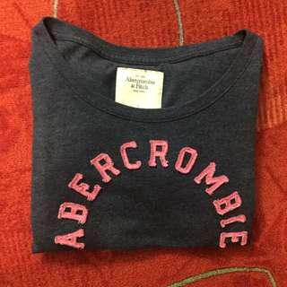A&F 短袖上衣 灰 Abercrombie & Fitch