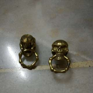 Solid Brass Skull Conchos With O Ring Model 60C