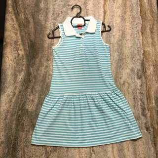 Blue and white striped dress size 10