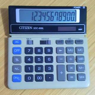 Calculator (CITIZEN SDC-868L)