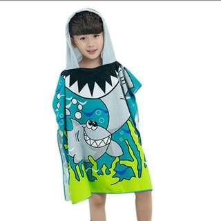 Shark Hoodie Beach Towel