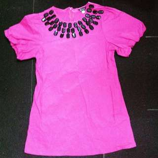 Tunic Hot Pink Mini Dres