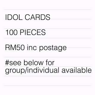 KPOP IDOLS 100 PIECES CARDS