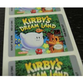 Vintage,  Kirby's Dream Land, Game boy Label, Nintendo