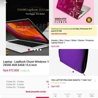 Laptop Chuwi 15,6 inci