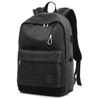 Tas Ransel Backpack Oxford dengan USB Charger Port