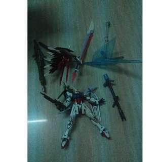 已開 冇盒 一眼睇哂  高達 Robot Spirits [Side MS] - Mobile Suit Gundam SEED: Perfect Strike Gundam 突擊 空中霸王 全装备完美强袭高达