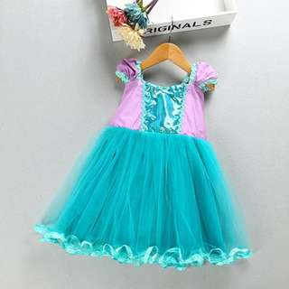 ARIEL dress Ariel costume princess mermaid dress for toddlers and girls 1-5y