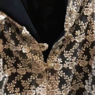 Gold Formal Top