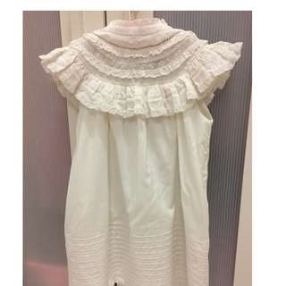 Zara Studio : Girl White Lace Dress (NEW)