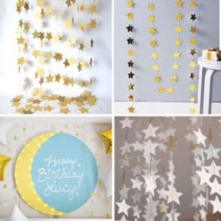 STARS Party Banner Decorations