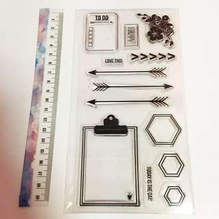 Bullet journal clear stamp