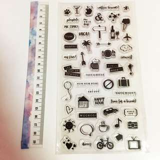 Planner journal clear stamp