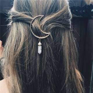 Free Shipping Moon hairclip