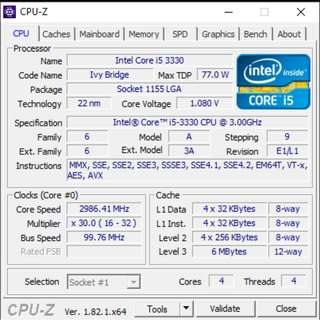 i5 3300 + Mobo ASUS P8H61-M LX R2.0 + RAM 8 GB (2x4gb)