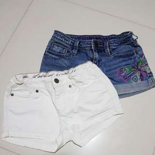 GAP & H&M Denim Shorts for girl
