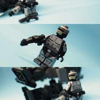 電影經典 Robocop 鐵甲威龍 積木人仔