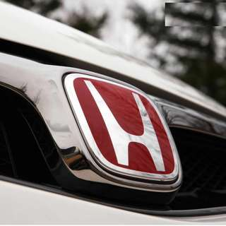 JDM Blue / Black / Red Honda Emblem! With install!