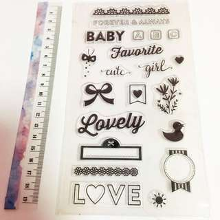 Baby shower clear stamp