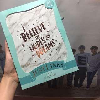 paper stone justlines note book