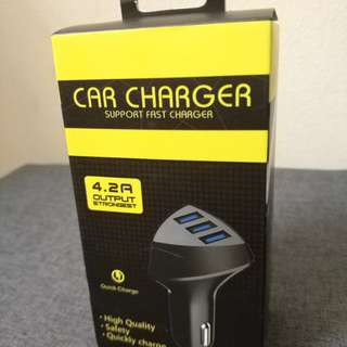 CAR CHARGER 4.2A 3PORT