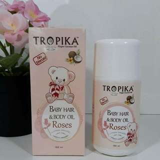 Tropika Baby hair & Body Oil Rose