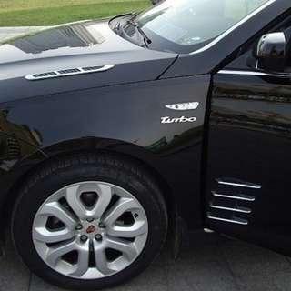 Decorative Chrome Black Side Vents stick on! Universal!