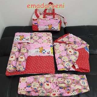 MURAH Set perlengkapan bayi 6in1 bantal guling selimut