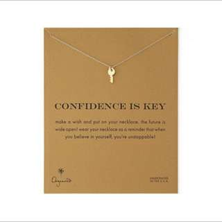 CONFIDENCE IS KEY GOLD minimalistic necklace