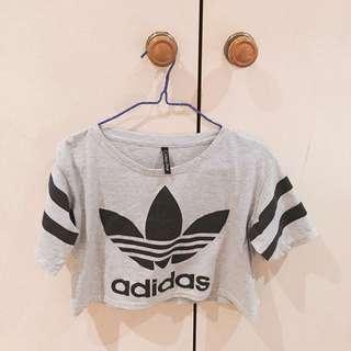 Printed Adidas crop tops